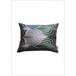 Silk ikat cushion S157