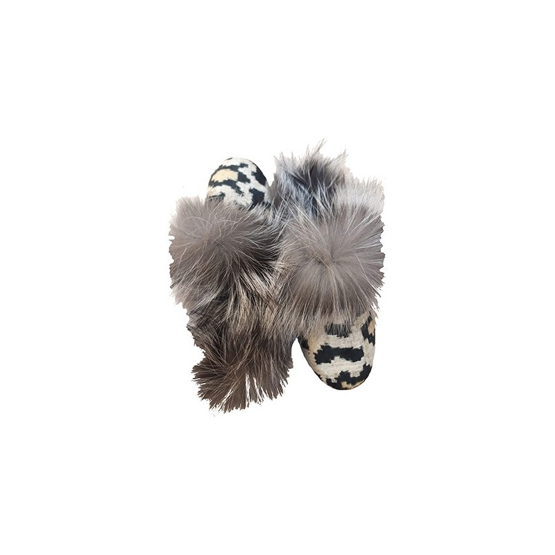 Real Fur slippers  FS02