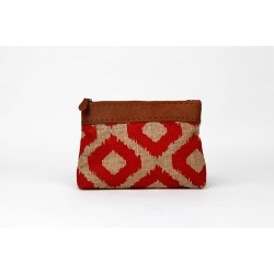 Straw Clutch Red