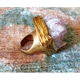 RING QUARTZ AND BRASS - ring01