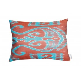 Silk ikat cushion S263