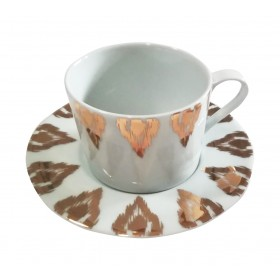 Tazza in porcellana IKAT GOLD