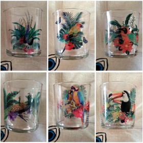 Set of 6 glasses TROPICAL