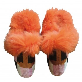 Real Fur slippers  FS10