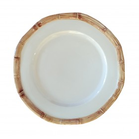 BAMBOO PLATE BROWN