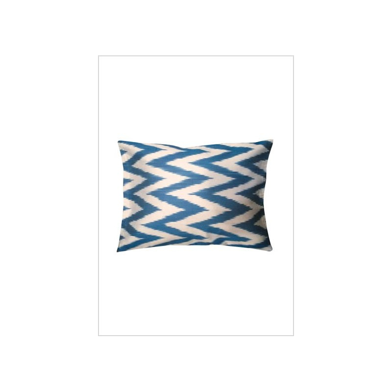 Silk ikat cushion S18