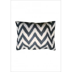 Silk ikat cushion S19