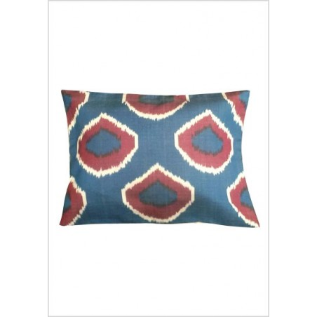 Silk ikat cushion S76
