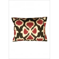 Silk ikat cushion S32
