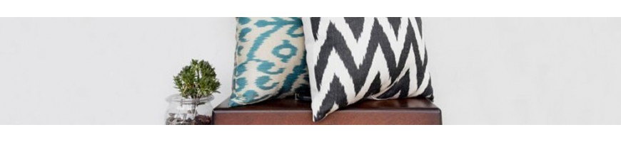 Hand made silk ikat cushions with Ottomans traditional patterns